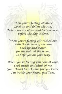 Heaven Quotes for Angel Poetry - When you're feeling all alone....